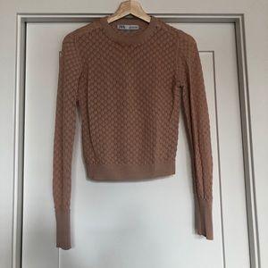 ZARA knit cream long sleeve